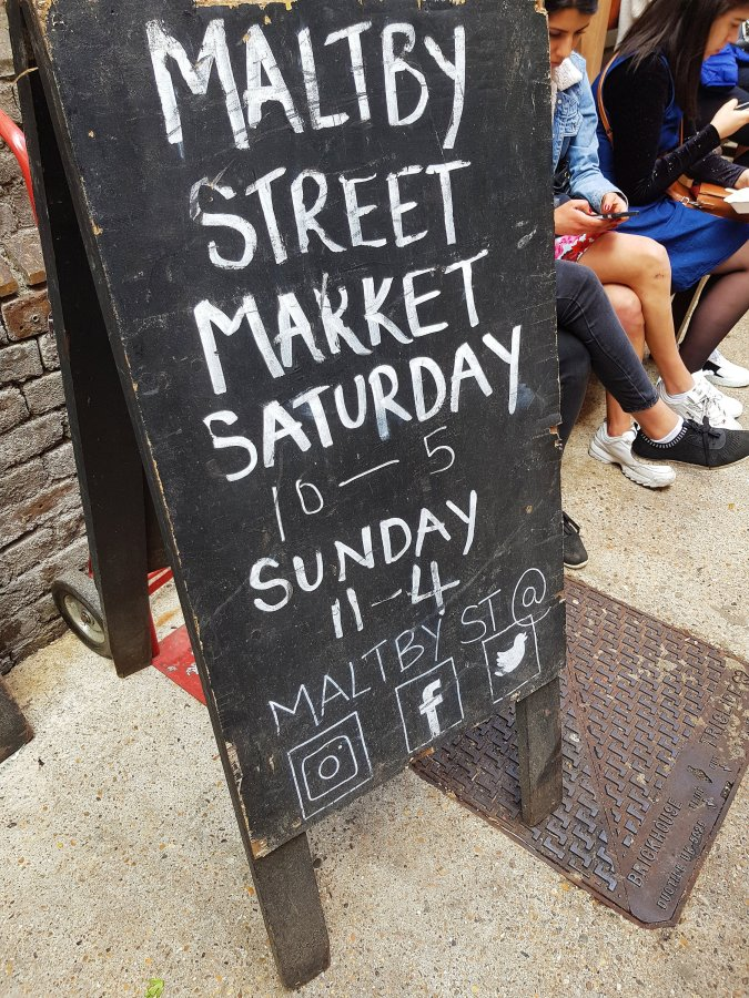 Eating My Way Through London: Maltby Street Market