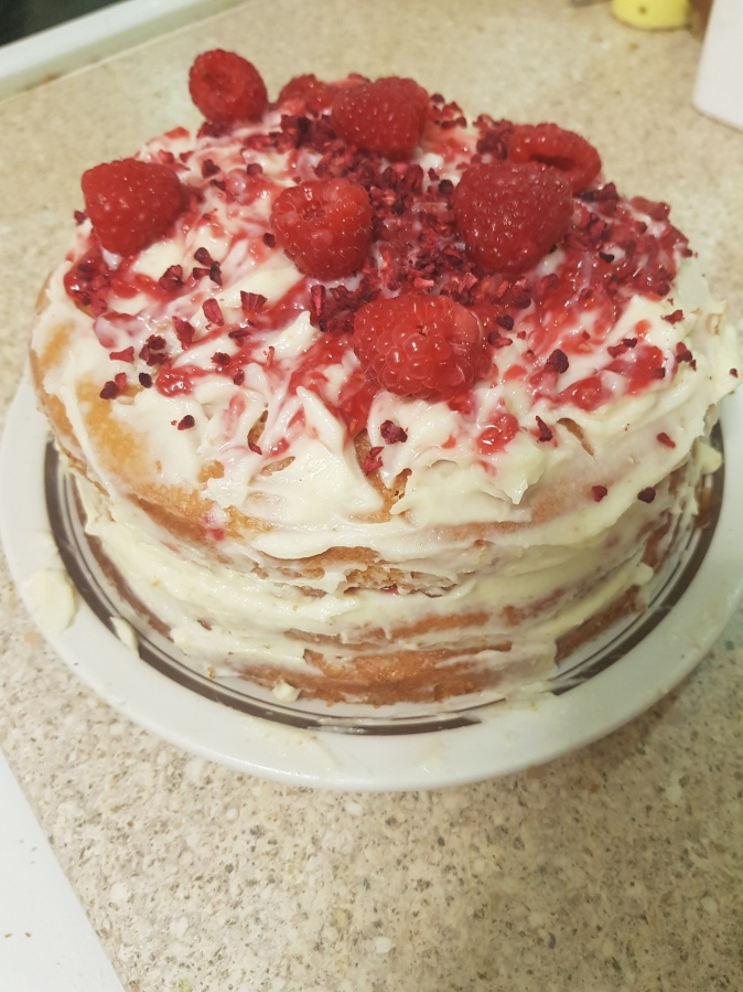 Rather Lovely Raspberry Ripple Cake